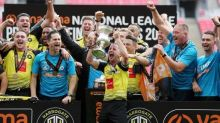 Harrogate Town promoted to League Two for first time in 106-year history after play-off win vs Notts County