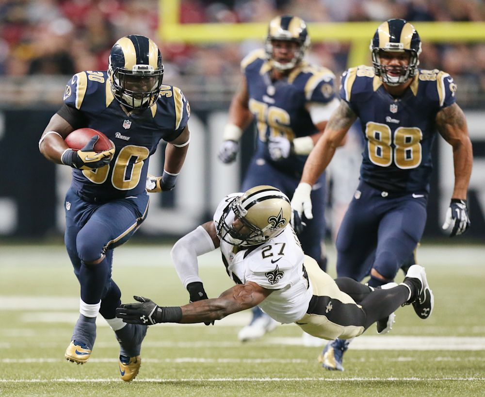 Rams' Stacy finishing season strong