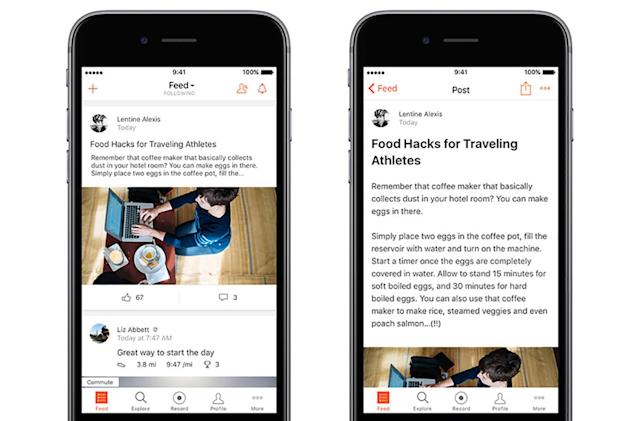 Strava wants runners and cyclists to be bloggers too