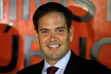 U.S. Senator Marco Rubio looks on during an official photo with Honduran Attorney General Oscar Chinchilla (not pictured) at the attorney's facilities in Tegucigalpa, Honduras, on May 31, 2016. REUTERS/Jorge Cabrera/File Photo