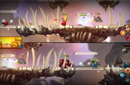 Watch this Awesomenauts split-screen trailer with a friend