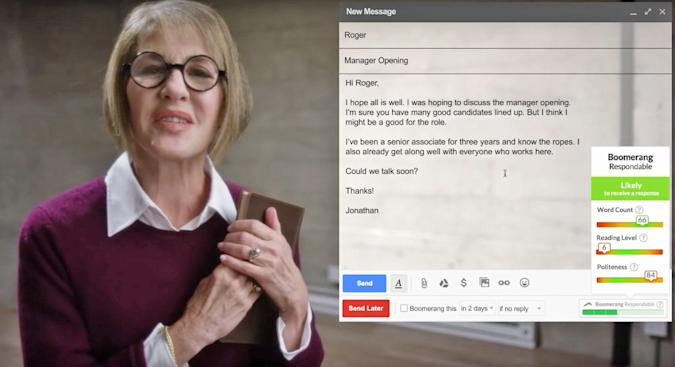 Boomerang uses AI to help you write emails people will read