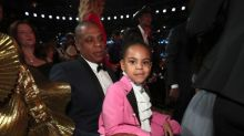 Blue Ivy and Jay Z are twinning in tuxedos at the Grammys