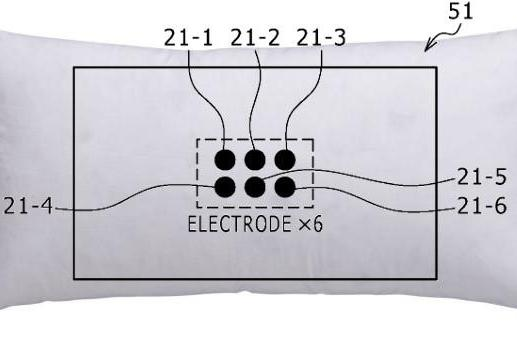 Sony patent application puts electrodes in a pillow, eases you out of slumber