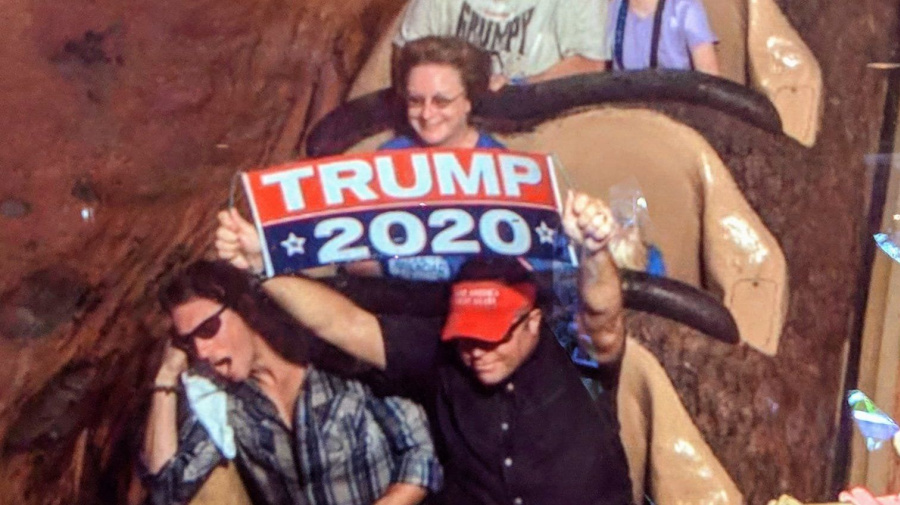 Disney bans Trump fan for repeated flashing of signs