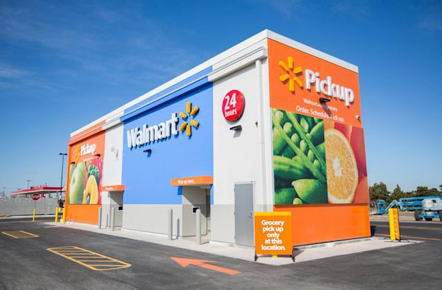 Walmart takes on Amazon's grocery pickups with automated kiosks