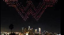 300 drones light up the LA skyline in honour of Wonder Woman