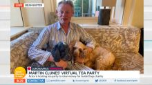 Martin Clunes does TV interview in his pyjamas