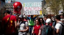 France's CGT urges broader anti-Macron protests, other unions keep their distance