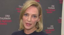 Uma Thurman says she's 'too angry' to respond to sexual harassment scandal