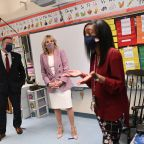 Jill Biden and Education Secretary Go Back to School