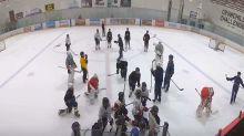 Hockey Calgary investigating disturbing locker room videos