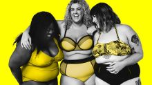A plus-size fashion brand has reinvented Protein World's 'beach body ready' campaign