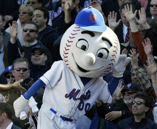 New York Mets mascot Mr. Met was at the center of a controversy after the person behind the costume flipped off fans at Citi Field. (AP)
