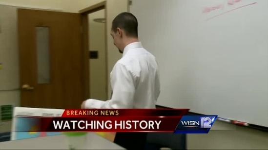 Marquette H.S. teacher brings history to classroom