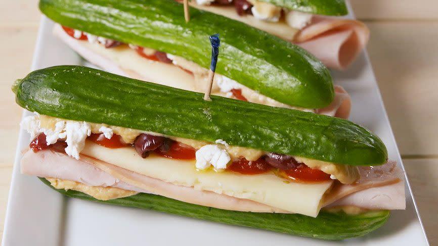 "<p>Cucumbers > bread</p><p>Get the recipe from <a href=""https://www.delish.com/cooking/recipe-ideas/a19856510/greek-cucumber-subs-recipe/"" rel=""nofollow noopener"" target=""_blank"" data-ylk=""slk:Delish"" class=""link rapid-noclick-resp"">Delish</a>.</p><p><a class=""link rapid-noclick-resp"" href=""https://www.amazon.com/Kuhn-Rikon-4-Inch-Nonstick-Colori/dp/B0030XNLQ4/"" rel=""nofollow noopener"" target=""_blank"" data-ylk=""slk:BUY NOW"">BUY NOW</a> <strong><em>Kuhn Rikon Pairing Knives, $21.95, <a href=""https://www.amazon.com/Kuhn-Rikon-4-Inch-Nonstick-Colori/dp/B0030XNLQ4/"" rel=""nofollow noopener"" target=""_blank"" data-ylk=""slk:amazon.com"" class=""link rapid-noclick-resp"">amazon.com</a></em></strong></p>"