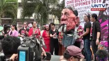Gabriela stages protest against Duterte's statement about NPA femalemembers