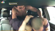 Lyft driver viciously assaulted by belligerent passenger in alarming dash cam footage