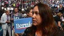 Delegates React to Sen. Bernie Sanders' Speech at the DNC