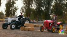 Jay Leno might be a redneck after racing a Lamborghini tractor against Jeff Foxworthy