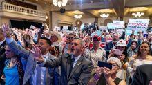 Trump defies virus rules as 'peaceful protest' rallies grow