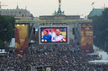 World's largest Philips Ambilight screen installed for the World Cup