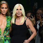 Versace Paid Homage to J.Lo's 2000 Grammy Awards Dress on the Runway for Milan Fashion Week