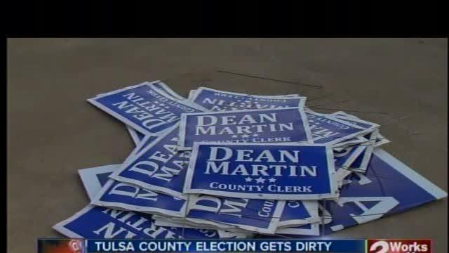Campaign volunteer arrested for stealing campaign signs