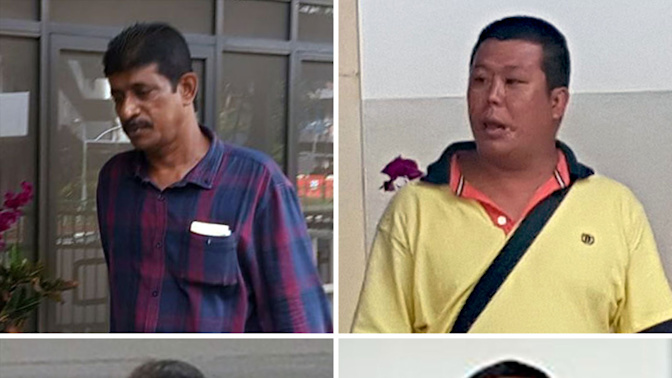 Four men who chanted slogans at funerals charged with being gang members