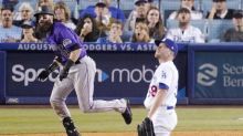 Dodgers' bullpen falters in loss to Rockies; Cody Bellinger's hamstring tightens up
