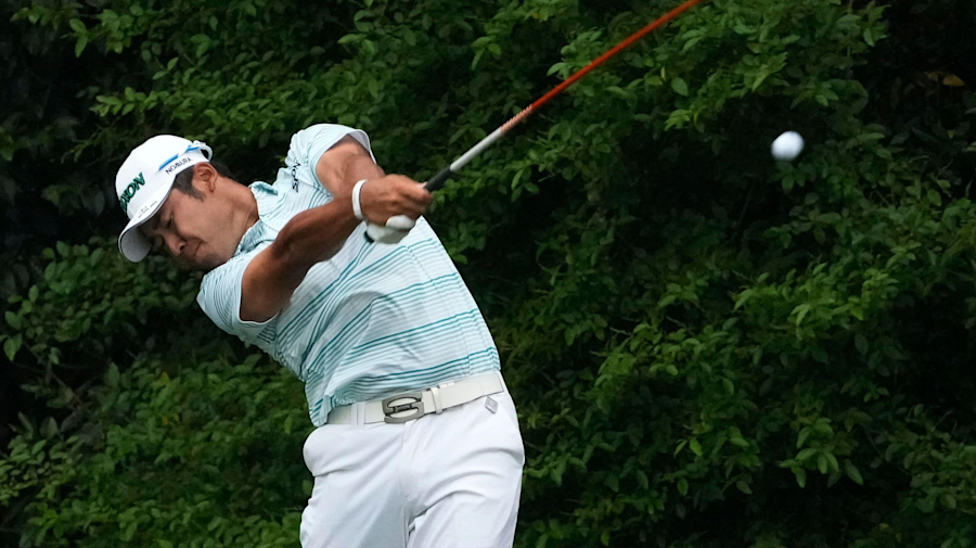 Masters day three: Hideki Matsuyama out in front after weather-affected Saturday