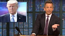 Seth Meyers Dissects Trump's Long History Of Spreading Conspiracy Theories