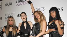 Fifth Harmony get wrapped up in bondage-style outfits for People's Choice Awards performance