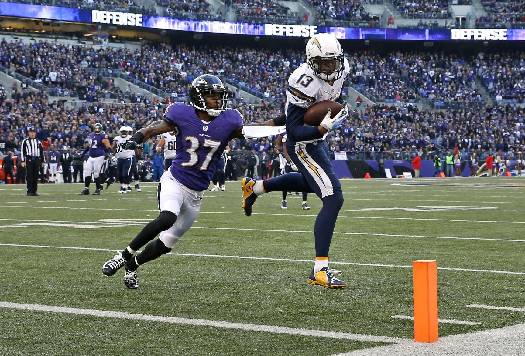 Rivers Rallies Chargers Past Ravens 34 33