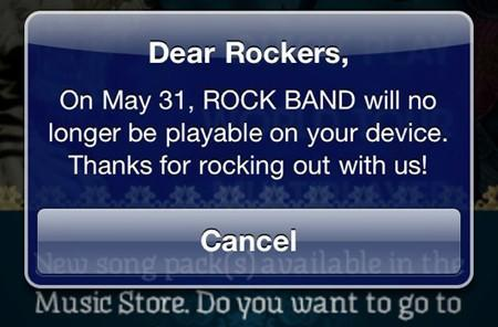 Rock Band for iOS to remain playable after all