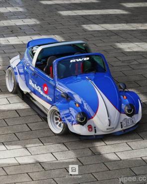 福斯金龜車瘋狂改裝,模仿 Porsche 911 Targa 打造敞篷版「Fusca Targa」