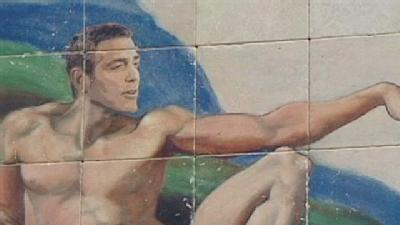 Mural Portrays Clooney As God's Gift To Women