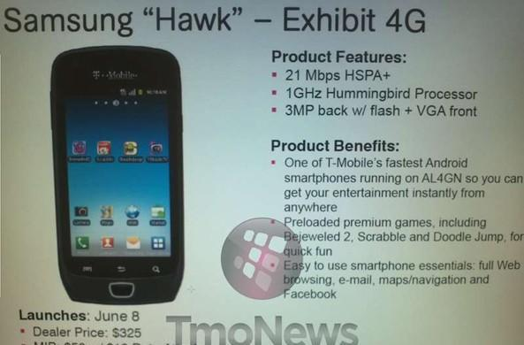Samsung Exhibit 4G coming to T-Mobile on June 8th?