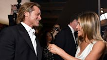 Brad Pitt was asked about the hype surrounding the Jennifer Aniston reunion