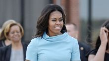 Michelle Obama Wears Catholic Designer Carolina Herrera for Pope Visit