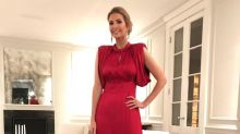 Ivanka Trump makes bedtime look glam in a red ball gown