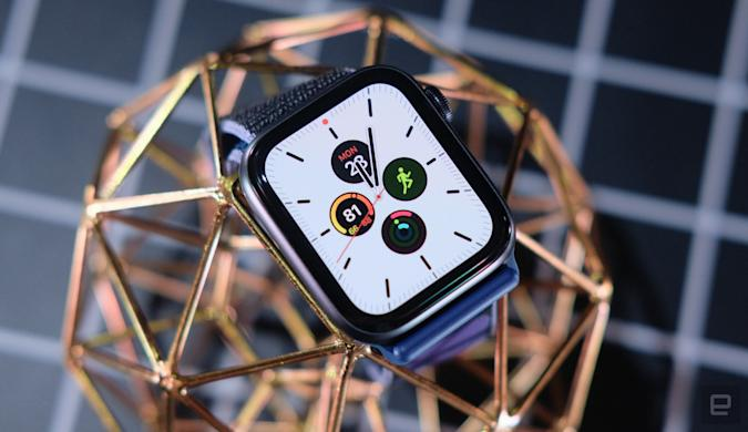 Apple Watch Series 5 with Meridian face