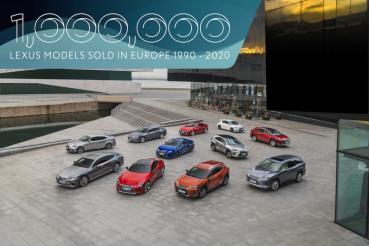 遲來的榮耀,Lexus 歐洲全車系銷量突破 100 萬輛成就!