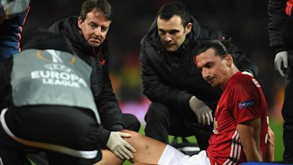 United confirm 'significant ligament damage' set to end Zlatan's season