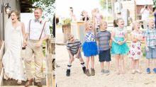 Kindergarten students' heartwarming surprise at teacher's wedding