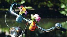 Das wohl süßeste Accessoire fürs Fahrrad: Eine Mini-Blumenvase