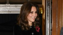 Kate Middleton Covers Baby Bump in Chic Coat Dress at Festival of Remembrance