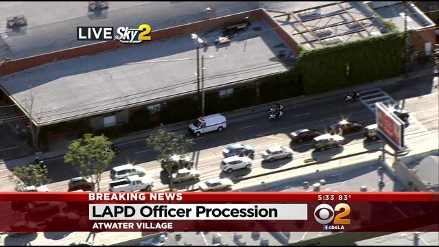 LAPD Leads Procession In Honor Of Fallen Motorcycle Officer Chris Cortijo