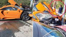 'Formula 1 driver' destroys $2.2 million supercar in nasty crash