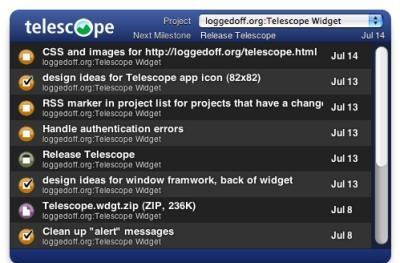 Widget Watch: Telescope, a Basecamp widget